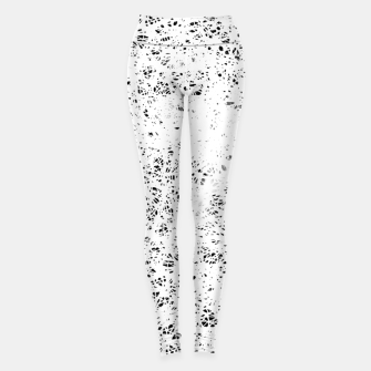 Thumbnail image of gxp butterfly beautiful strong free splatter watercolor white schmetterling weiß Leggings, Live Heroes