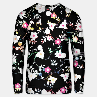 Thumbnail image of White flowers Cotton sweater, Live Heroes