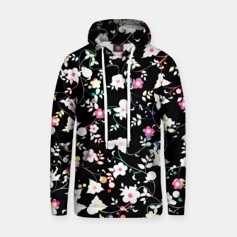 Thumbnail image of White flowers Cotton hoodie, Live Heroes