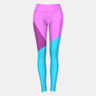 Miniaturka 80s color block pattern Yoga Pants, Live Heroes