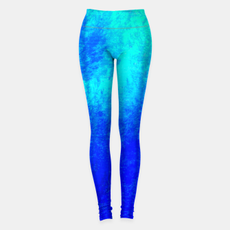 Thumbnail image of the sapphire forest Yoga Pants, Live Heroes
