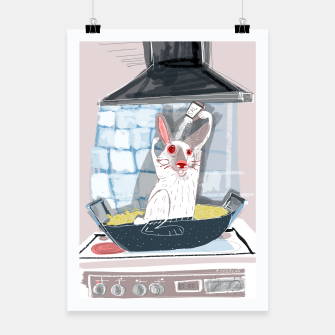 Thumbnail image of Rabbit Paella with Hare Poster, Live Heroes