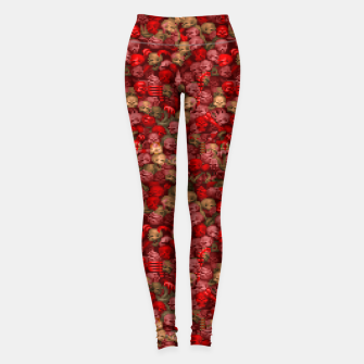 Thumbnail image of Pixel Skulls // Blood Variant Yoga Pants, Live Heroes