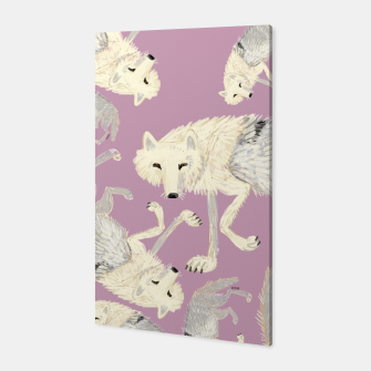 Thumbnail image of Totem artic wolf pattern Canvas, Live Heroes