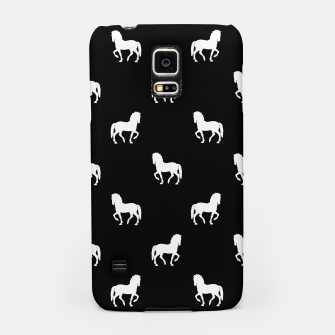 Miniaturka Silhouette Graphic Horses Pattern Samsung Case, Live Heroes