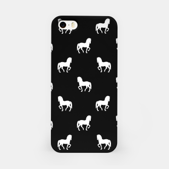 Miniaturka Silhouette Graphic Horses Pattern iPhone Case, Live Heroes