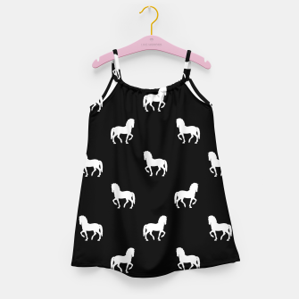 Miniaturka Silhouette Graphic Horses Pattern Girl's dress, Live Heroes