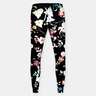 Thumbnail image of White flowers Cotton sweatpants, Live Heroes
