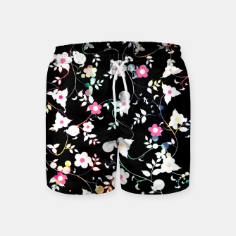 Thumbnail image of White flowers Swim Shorts, Live Heroes