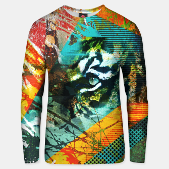 Miniature de image de Bengal Tiger in  Abstract Paint Digital art Cotton sweater, Live Heroes