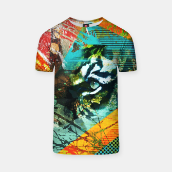 Miniature de image de Bengal Tiger in  Abstract Paint Digital art T-shirt, Live Heroes