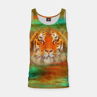 Thumbnail image of Tiger head on painted texture Tank Top, Live Heroes