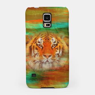 Thumbnail image of Tiger head on painted texture Samsung Case, Live Heroes