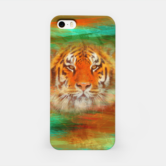 Thumbnail image of Tiger head on painted texture iPhone Case, Live Heroes