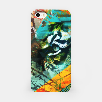 Miniature de image de Bengal Tiger in  Abstract Paint Digital art iPhone Case, Live Heroes