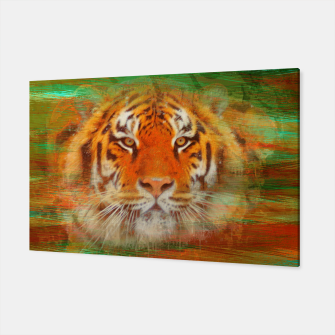 Thumbnail image of Tiger head on painted texture Canvas, Live Heroes