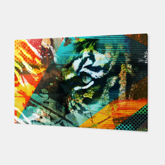 Miniature de image de Bengal Tiger in  Abstract Paint Digital art Canvas, Live Heroes
