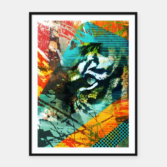 Miniature de image de Bengal Tiger in  Abstract Paint Digital art Framed poster, Live Heroes