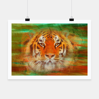 Thumbnail image of Tiger head on painted texture Poster, Live Heroes