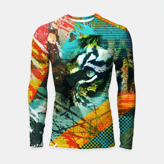 Miniature de image de Bengal Tiger in  Abstract Paint Digital art Longsleeve rashguard , Live Heroes