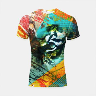 Miniature de image de Bengal Tiger in  Abstract Paint Digital art Shortsleeve rashguard, Live Heroes