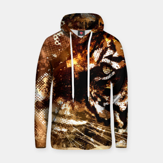 Miniature de image de Bengal Tiger in  Abstract Paint Digital art Cotton hoodie, Live Heroes