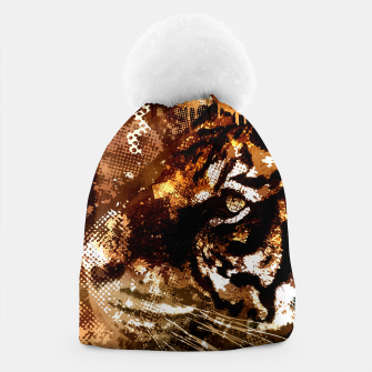 Miniature de image de Bengal Tiger in  Abstract Paint Digital art Beanie, Live Heroes