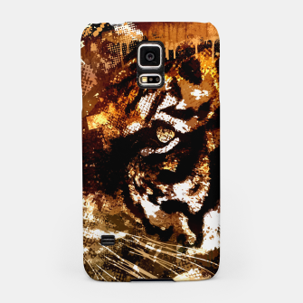 Miniature de image de Bengal Tiger in  Abstract Paint Digital art Samsung Case, Live Heroes