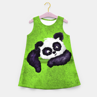 Miniature de image de Cute Painted Panda Bear on green Girl's summer dress, Live Heroes