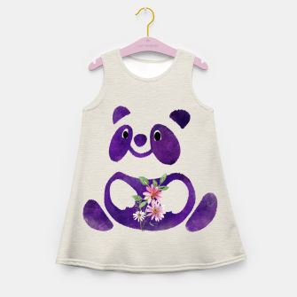 Miniature de image de Cute  Purple Panda Bear with flowers Girl's summer dress, Live Heroes