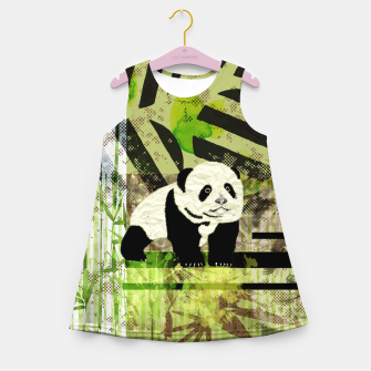Miniature de image de Panda Cub Abstract mixed media digital art collage Girl's summer dress, Live Heroes