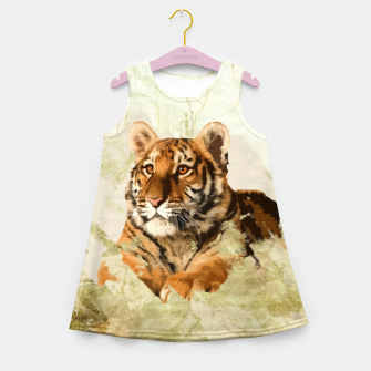 Miniature de image de Tiger Cub - Mixed Media Digital art Girl's summer dress, Live Heroes