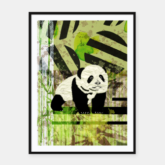 Miniaturka Panda Cub Abstract mixed media digital art collage Framed poster, Live Heroes