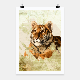 Miniaturka Tiger Cub - Mixed Media Digital art Poster, Live Heroes