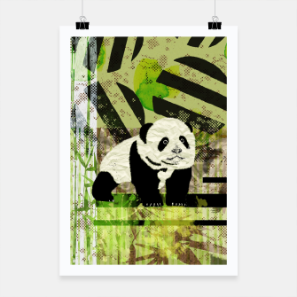 Miniaturka Panda Cub Abstract mixed media digital art collage Poster, Live Heroes