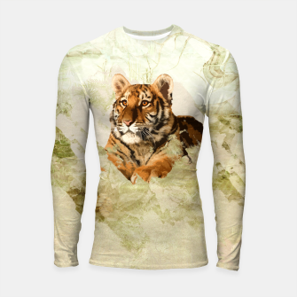 Miniaturka Tiger Cub - Mixed Media Digital art Longsleeve rashguard , Live Heroes