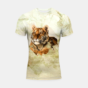Miniaturka Tiger Cub - Mixed Media Digital art Shortsleeve rashguard, Live Heroes