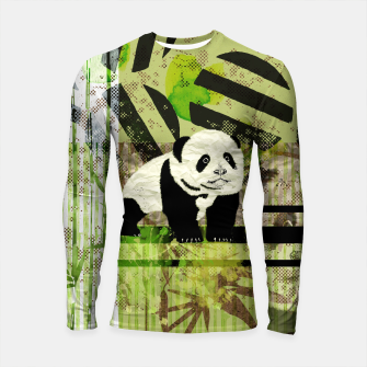 Miniaturka Panda Cub Abstract mixed media digital art collage Longsleeve rashguard , Live Heroes