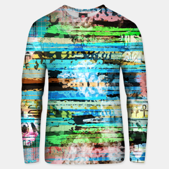 Thumbnail image of Egyptian hieroglyphs on textured background Cotton sweater, Live Heroes