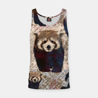 Miniaturka Red Panda Abstract mixed media digital art collage Tank Top, Live Heroes