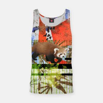 Miniaturka Red Panda Abstract mixed media art collage Tank Top, Live Heroes