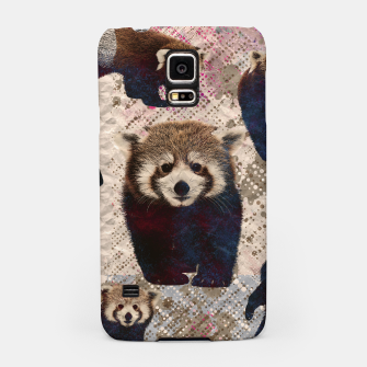 Miniaturka Red Panda Abstract mixed media digital art collage Samsung Case, Live Heroes
