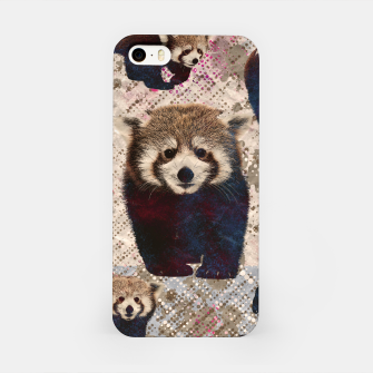 Miniaturka Red Panda Abstract mixed media digital art collage iPhone Case, Live Heroes