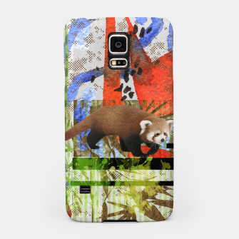 Miniaturka Red Panda Abstract mixed media art collage Samsung Case, Live Heroes