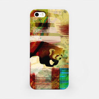 Miniaturka Red Panda Abstract mixed media art collage iPhone Case, Live Heroes
