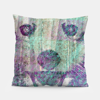 Miniaturka Red Panda Abstract mixed media digital art collage Pillow, Live Heroes