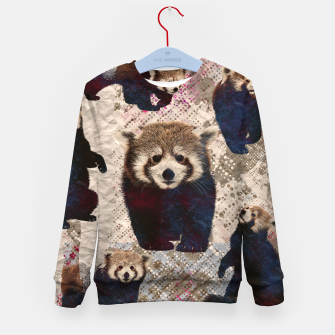Miniaturka Red Panda Abstract mixed media digital art collage Kid's sweater, Live Heroes