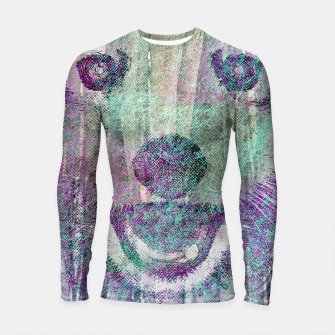 Miniaturka Red Panda Abstract mixed media digital art collage Longsleeve rashguard , Live Heroes