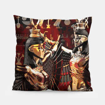 Miniature de image de Isis - Goddess of Egypt Abstract composition Pillow, Live Heroes