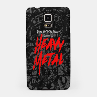 Woke Up To The Sweet Sound Of HEAVY METAL Samsung Case thumbnail image